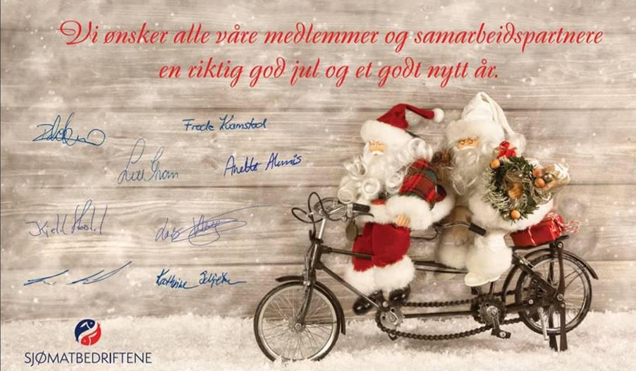 Sjømatbedriftene ønsker dere alle en riktig god jul