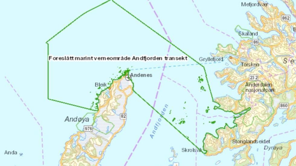 Kart Andfjorden