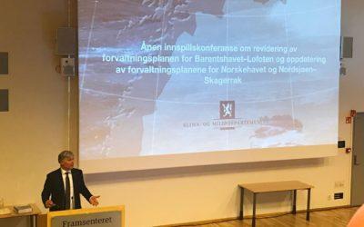 Sjømatbedriftene på innspillskonferanse med Miljøvernministeren