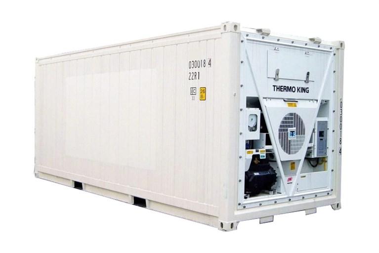 Kontainerne som kan benyttes til kort-tids lagring av skinn, avskjær og avfall fra lakseproduksjonen.