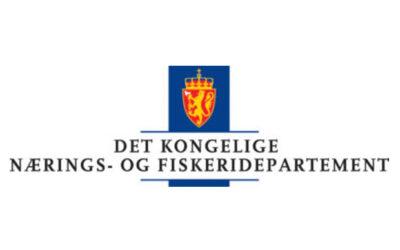 Nærings- og fiskeridepartementet med forslag om forlengelse av unntak etter PD-forskriftens § 8