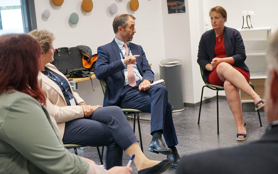 Møte med britisk minister om utfordringer ved eksport av norsk sjømat til UK